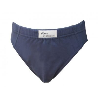 Slip gris coton bio de la marque Peau Éthique