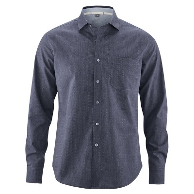 Chemise homme coton bio chanvre bio grise winterskyTerence