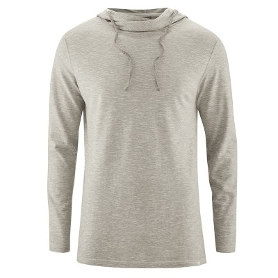 Sweat à capuche homme beige mud