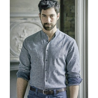 Chemise homme chanvre coton bio col droit
