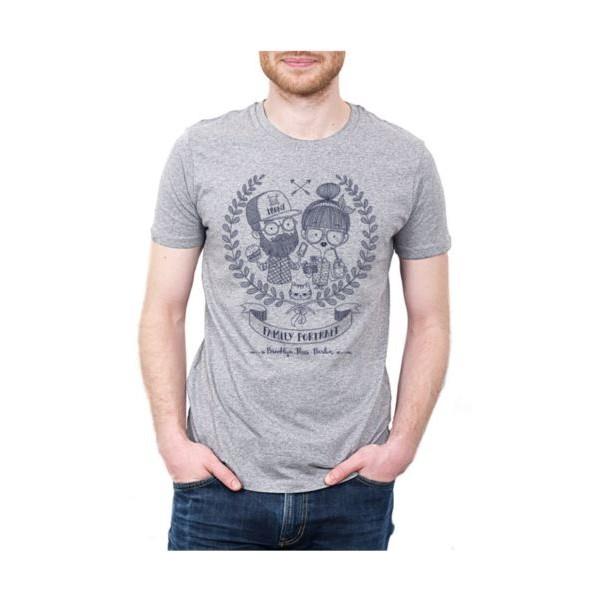 tee shirt gris chin coton bio hipster sao bio v tements bio pour hommes femmes et enfants. Black Bedroom Furniture Sets. Home Design Ideas