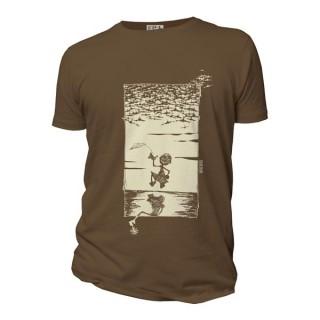 Tee-shirt bio couleur chocolat Jeux de de Guerre