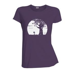 T-shirt bio Pousse prune