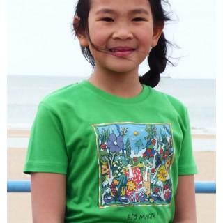 Tee-shirt bio vert Bio Magik