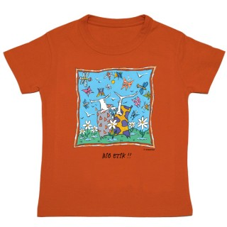 Tee-shirt bio orange Bio Etik