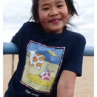 Tee-shirt bio bleu marine Star
