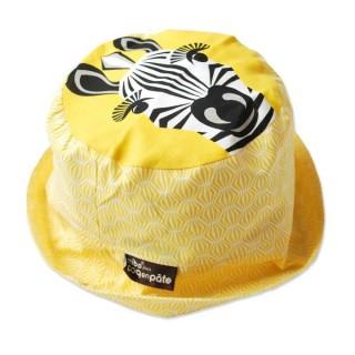 Bob jaune coton bio zèbre
