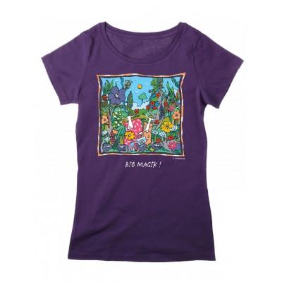Tee-shirt femme prune Bio Magik