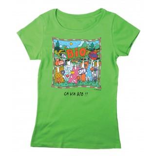 Tee-shirt femme vert Ca va Bio