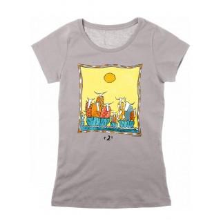 Tee-shirt femme gris +2°