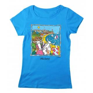 Tee-shirt femme bleu Granville