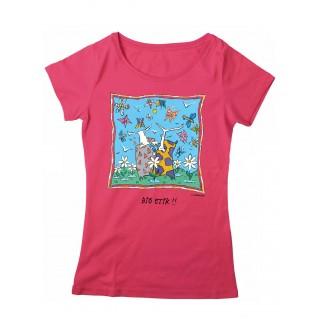 Tee-shirt coton bio rose Bio Etik !!