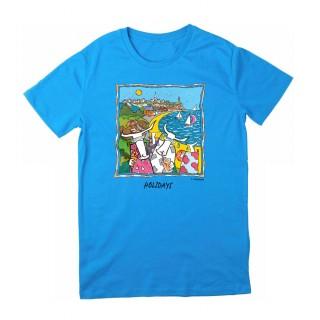 Tee-shirt bleu azur Granville
