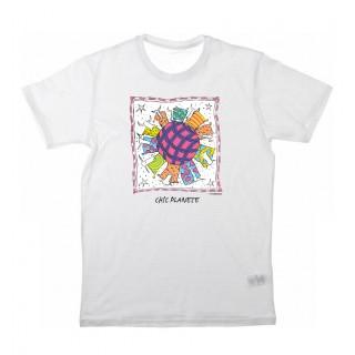 Tee-shirt blanc Chic Planet