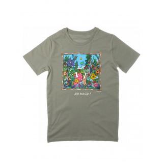 Tee-shirt kaki clair Bio Magik