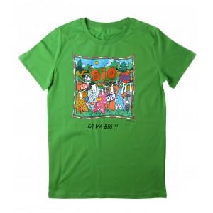 Tee-shirt vert Ca va Bio