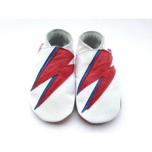 Chaussons cuir David bowie