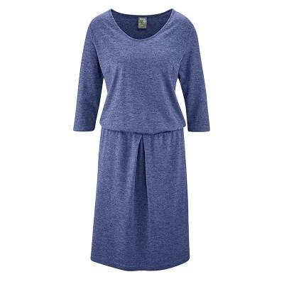 Robe jupe chic et éthique chanvre et coton bio hempage bleu