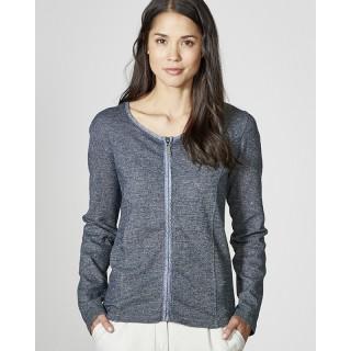Veste femme zippée chanvre coton bio graphite