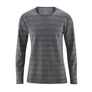 Tee-shirt manches longues chanvre et coton bio Quentin gris anthracite