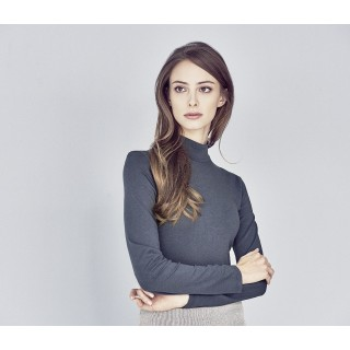 Tee-shirt col montant coton bio chanvre
