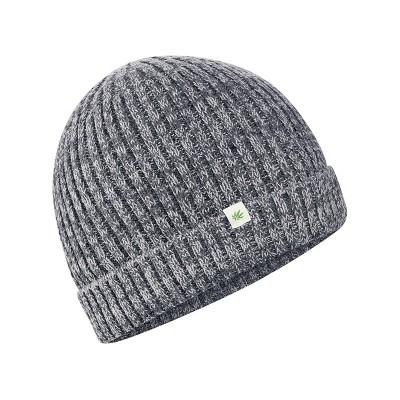 bonnet chanvre coton bio Corbin mélange graphique gris
