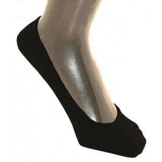 Chaussettes noires protège pieds coton bio