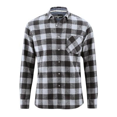Chemise carreaux noir chanvre coton bio Timber