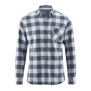 Chemise carreaux graphite chanvre coton bio Timber