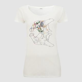 T-shirt coton bio ours et reflet