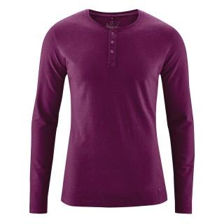 T-shirt Manches longues 45 %chanvre et 55% coton bio Daniel prune