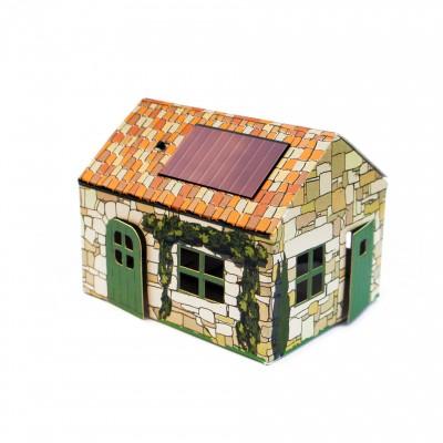 Veilleuse solaire en carton Provence
