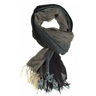Cheche foulard noir et nuances de gris