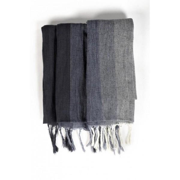 9fdd7cd8b87d Cheche foulard noir et nuances de gris - Sao-Bio