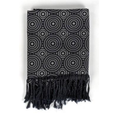 Cheche foulard gris noir
