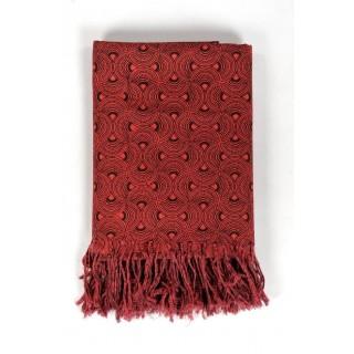 Cheche foulard imprimé rouge et noir