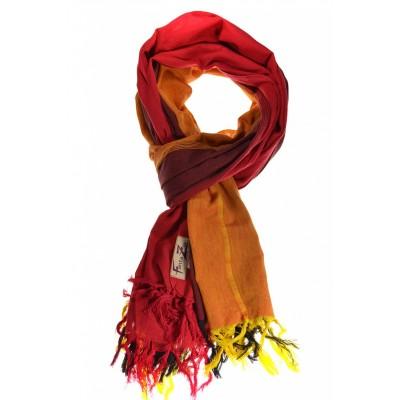 Cheche foulard avec dégradé rouge