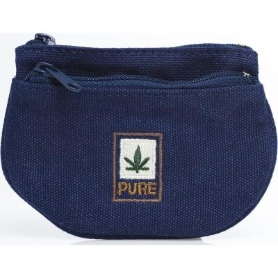 Porte-monnaie 2 poches bleu