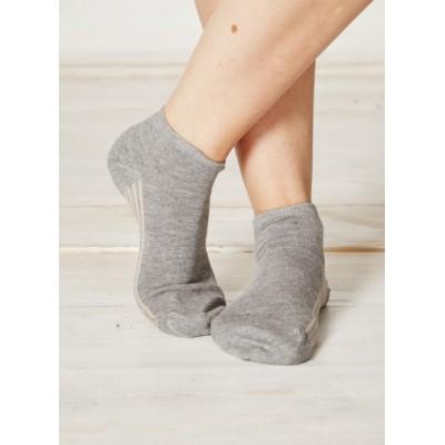 Socquettes femme bambou et coton bio grises