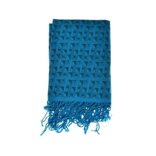db44b80524f Cheche foulard bleu turquoise Labyrinthe  Cheche foulard bleu turquoise  Labyrinthe ...