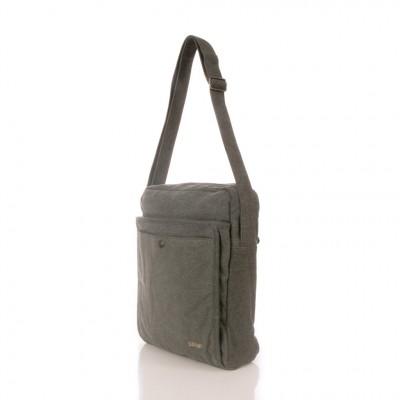 Grand sac bandoulière format A4, chanvre et coton bio