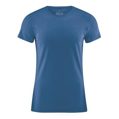 Tee shirt éthique uni 9 couleurs au choix chanvre coton bio bleu mer