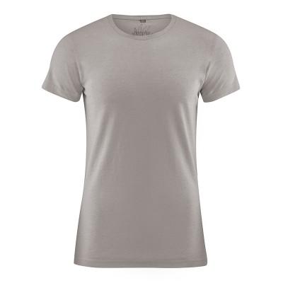Tee shirt uni 9 couleurs au choix chanvre coton bio marron clair mud