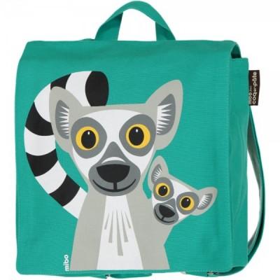 Sac à dos coton bio école vert lémurien