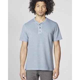 T-shirt Manches courtes chanvre et coton bio Henley