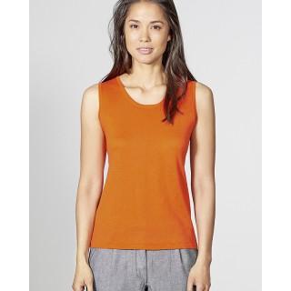 Tee-shirt débardeur femme sans manches coton bio chanvre