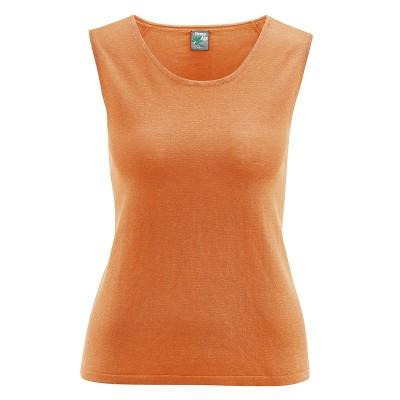 Tee-shirt débardeur sans manches coton bio chanvre carotte