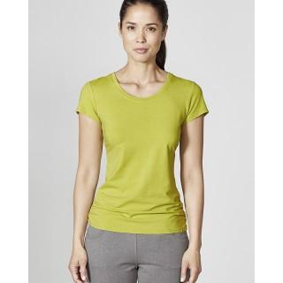 Tee-shirt manches courtes femme uni chanvre et coton bio