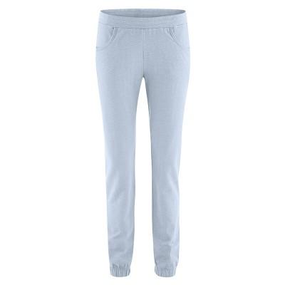 Pantalon de jogging femme chanvre coton bio gris clair clear