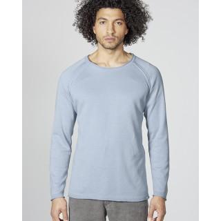 Vêtement organic en fibres naturelles, pull manches raglan coton bio et chanvre
